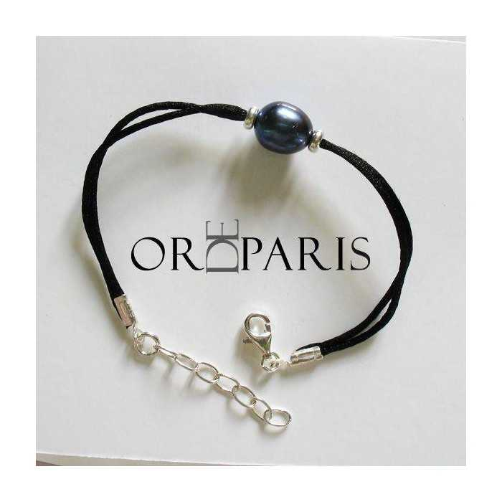 Bracelet Sea Violet Perle d'eau douce bleu nuit