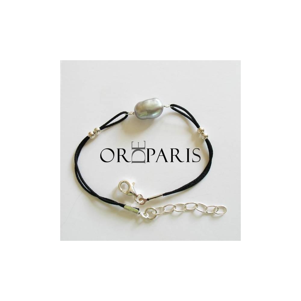Bracelet Sea Silver Perle keshi Silver