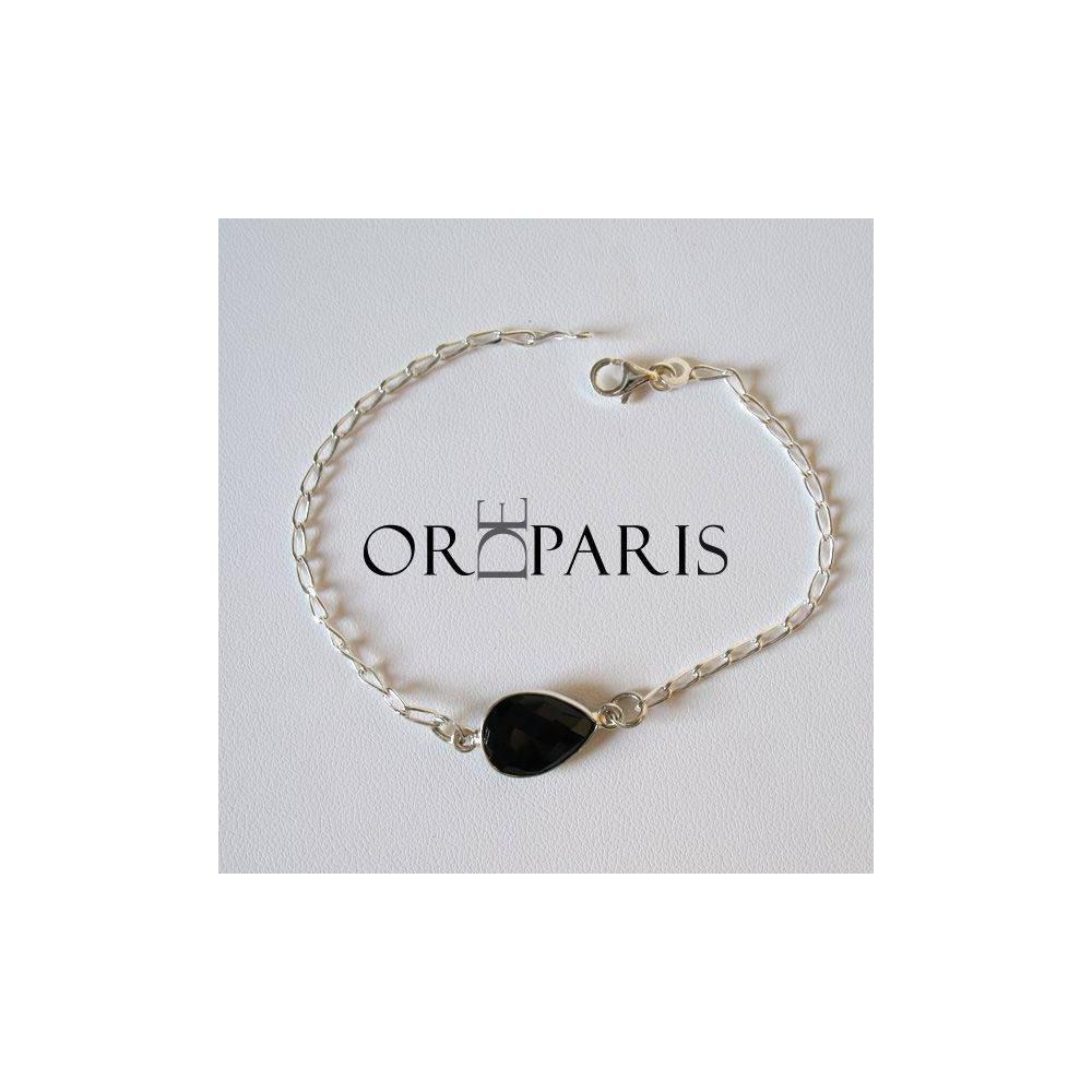 Bracelet Birdie Onyx Argent 925