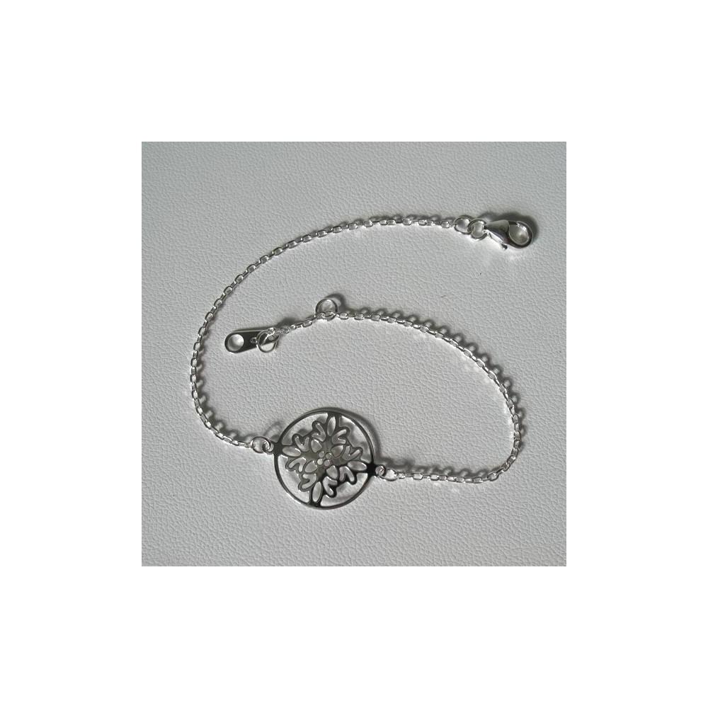 Bracelet motif IZNIK. En argent massif 925