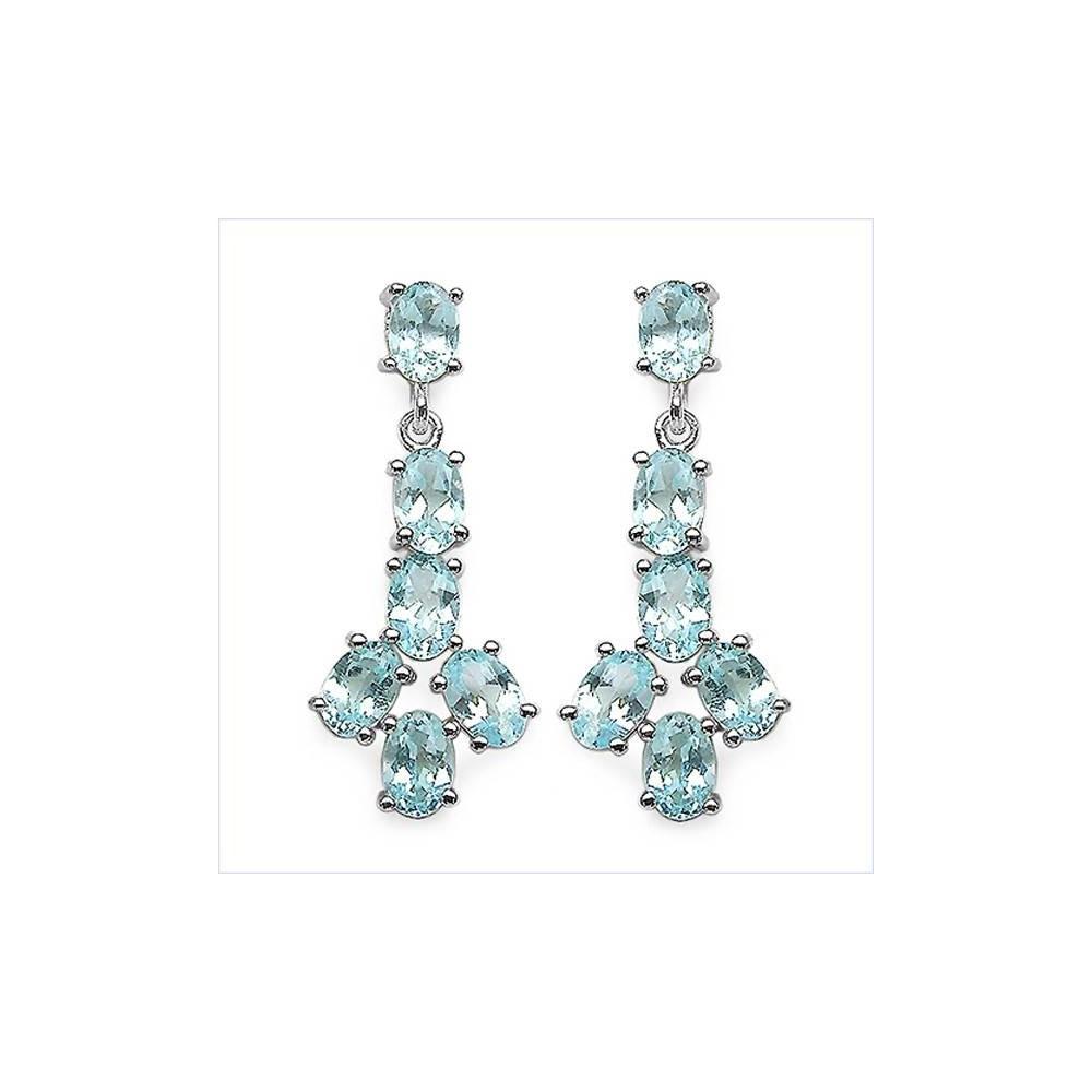 Boucles d'oreilles Isadora topaze bleue Argent 925
