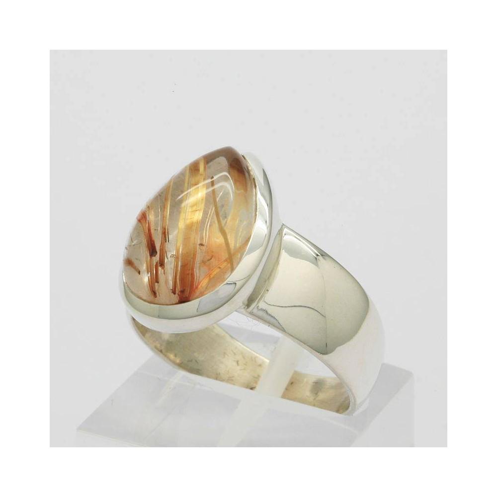 Bague Némésis quartz rutile