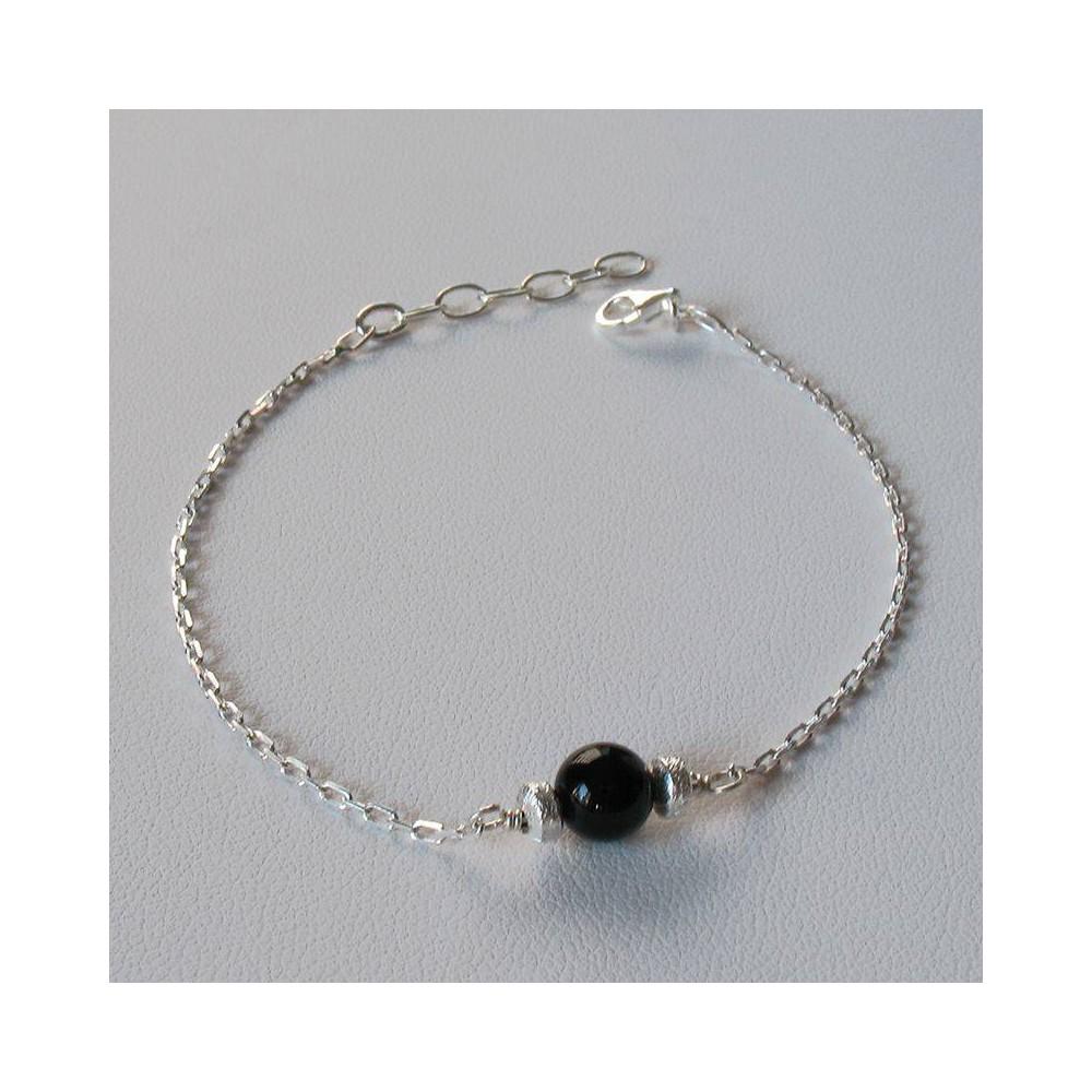Bracelet Show Onyx. Argent 925