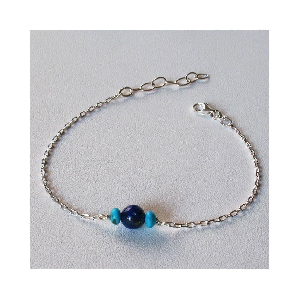 Bracelet Show Lapis lazuli. Argent 925