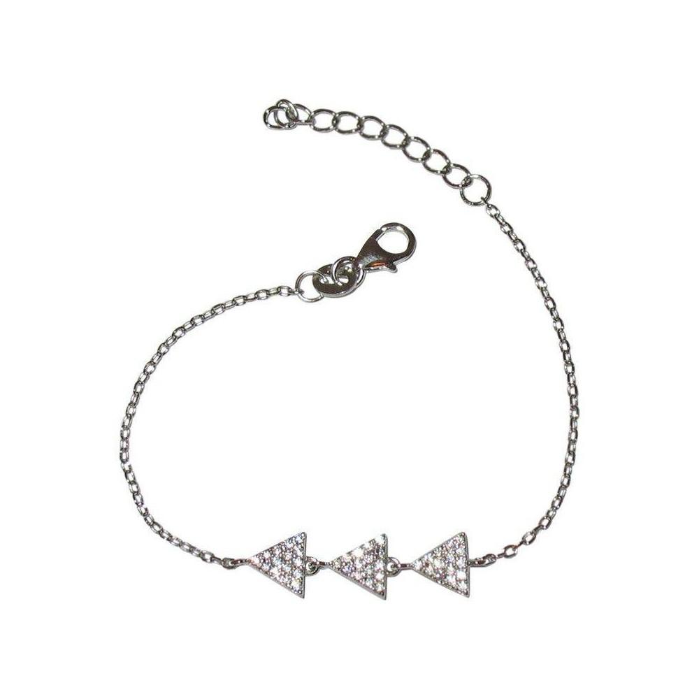 Bracelet TRIO BLANC en argent massif et oxydes de zirconium
