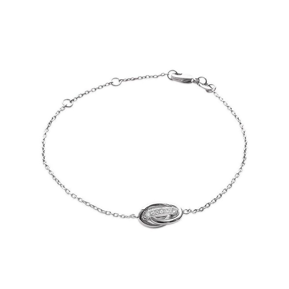 Bracelet noeud antillais. Argent massif