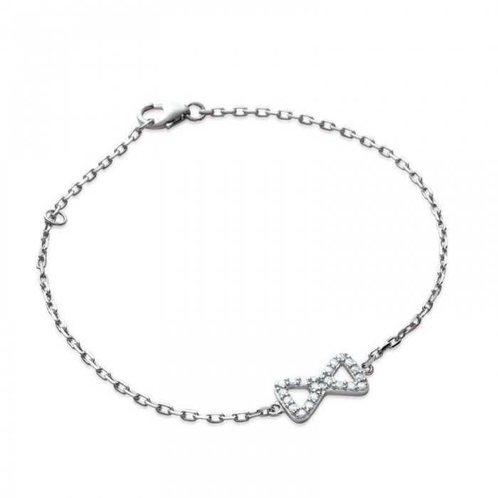 Bracelet petit noeud. Argent massif