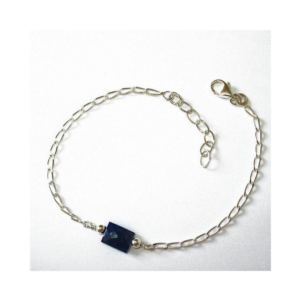 Bracelet Quartet Lapis lazzuli. Argent massif 925
