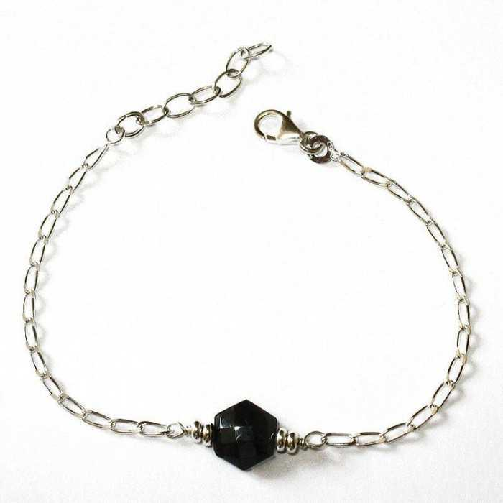 Bracelet Quartet en Onyx Argent massif 925