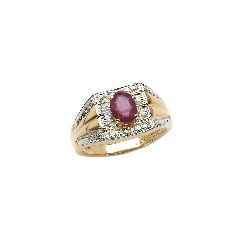 Bague Shannon en argent rubis et diamants