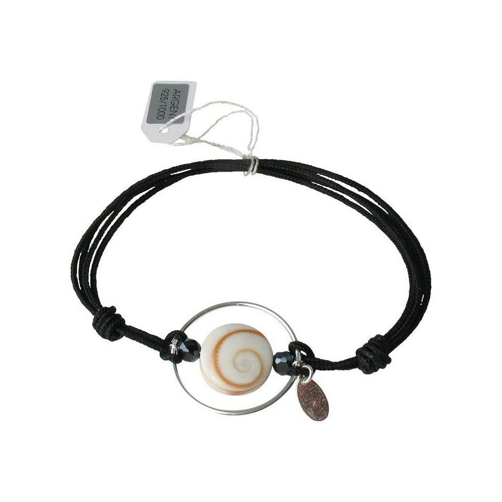 Bracelet Lucie en larimar. Cordon et argent 925