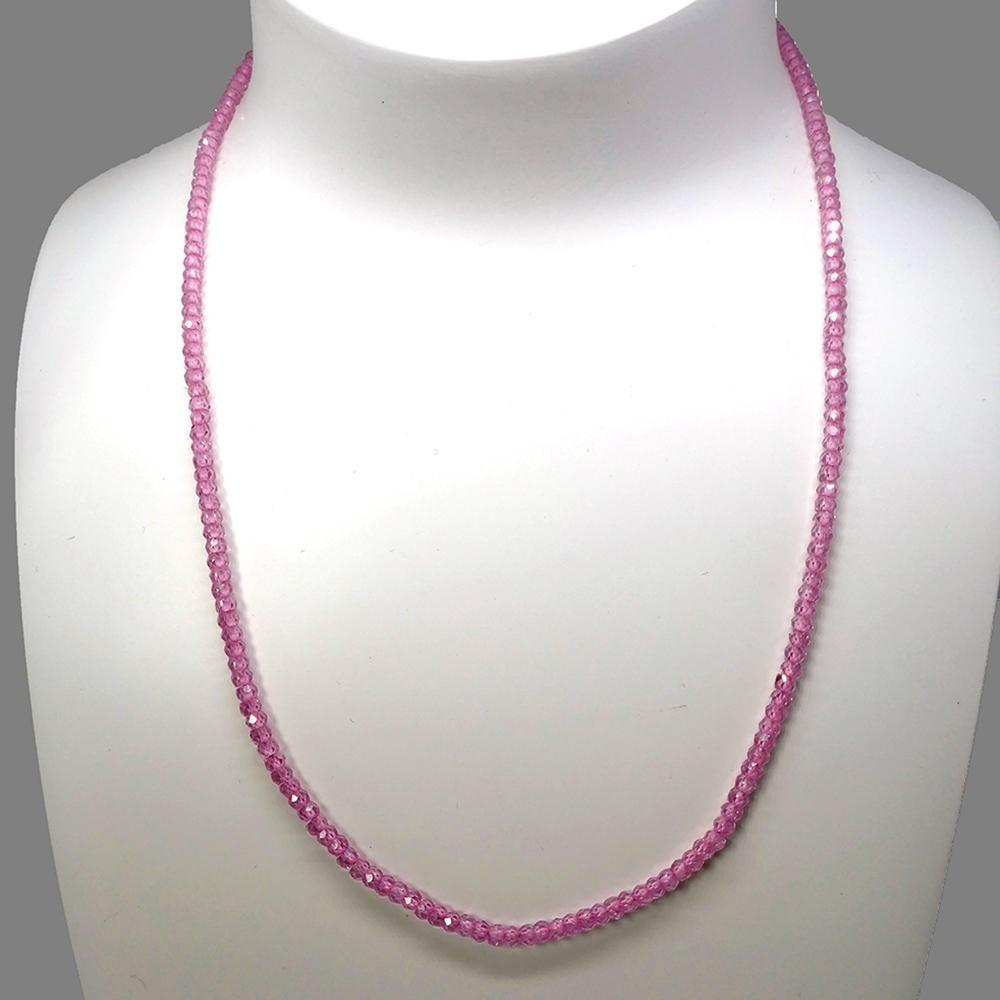 Collier en zircon rose