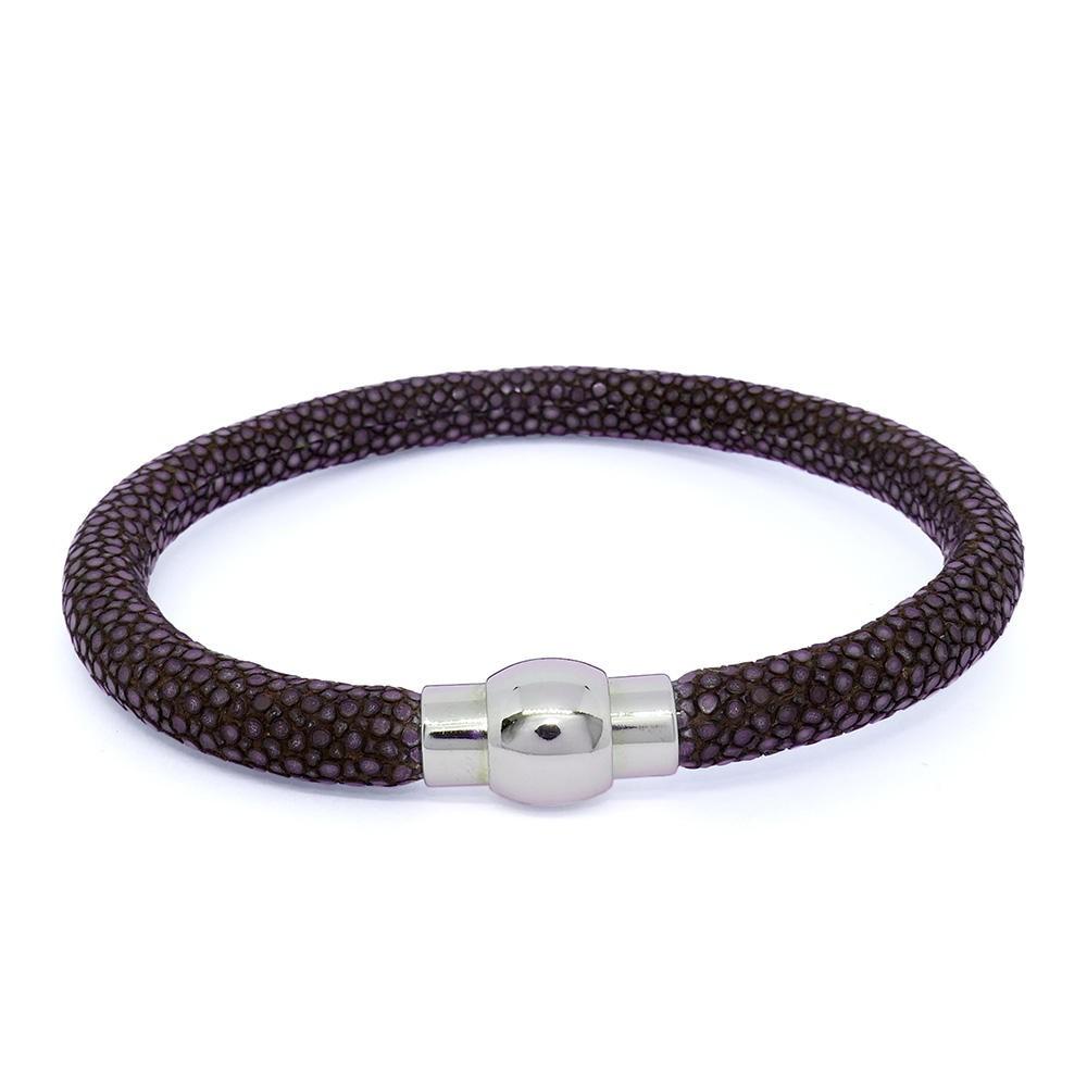 Bracelet  RAY DECO en galuchat expresso