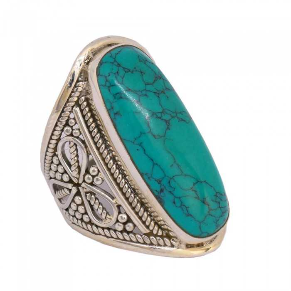 Suryia bague Turquoise d'Arizona. Argent 925