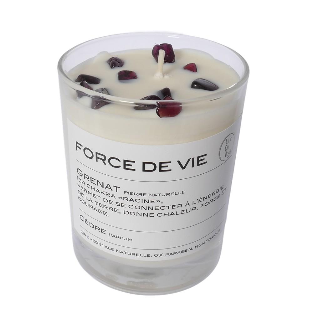 Bougie Grenat parfum Cèdre