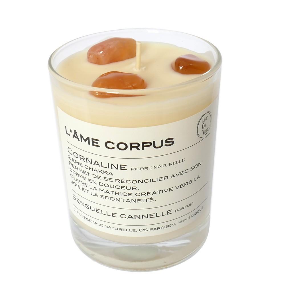 Bougie Cornaline parfum Sensuelle canelle
