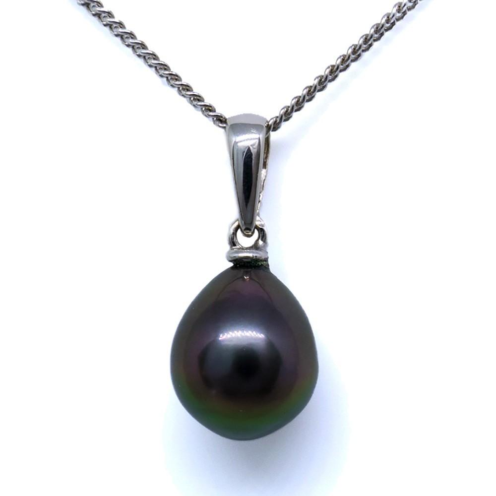 Zia pendentif perle de Tahiti noire