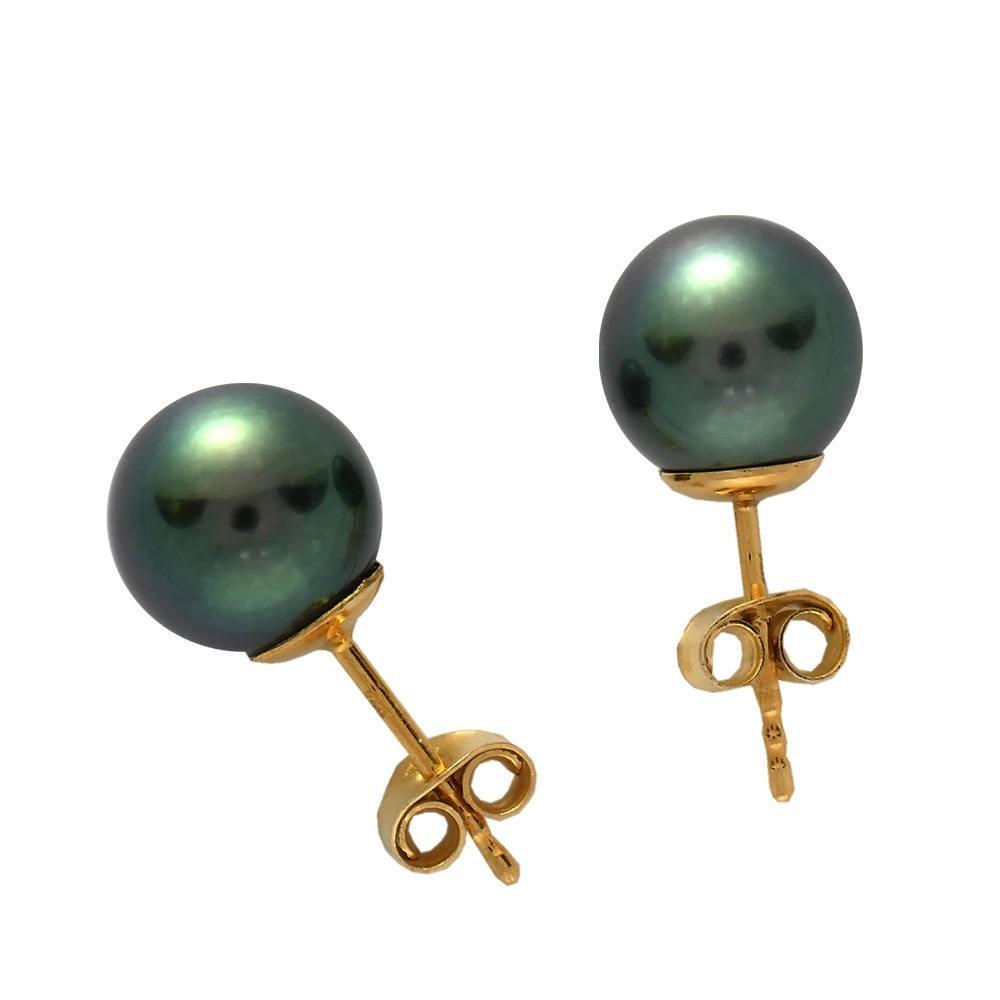Boucles d'oreilles Moneta Perle de Tahiti. OR 750