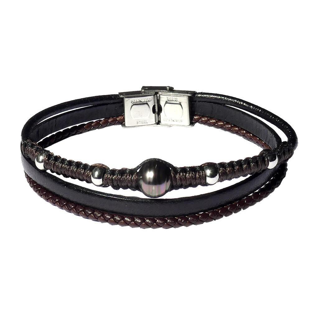 Bracelet  perle de Tahiti pour homme EYETOO.