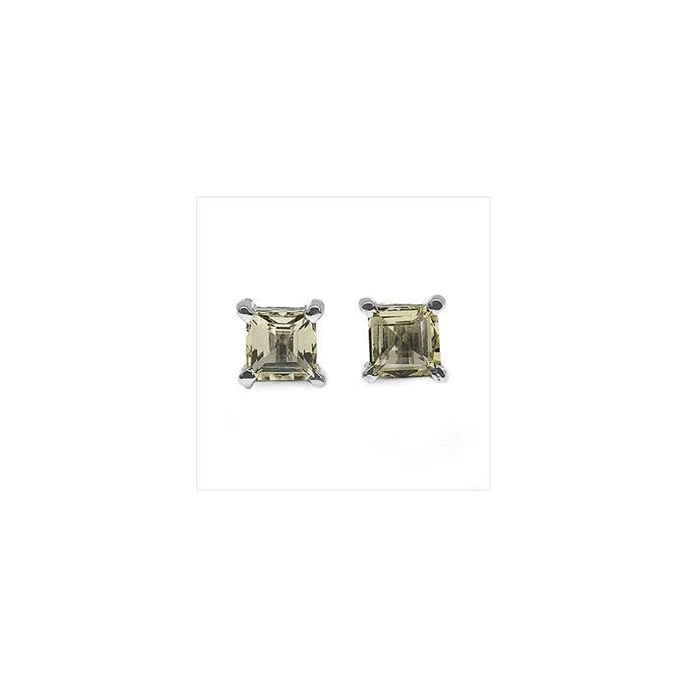 Boucles d'oreilles Katia quartz fumée. Argent massif rhodié
