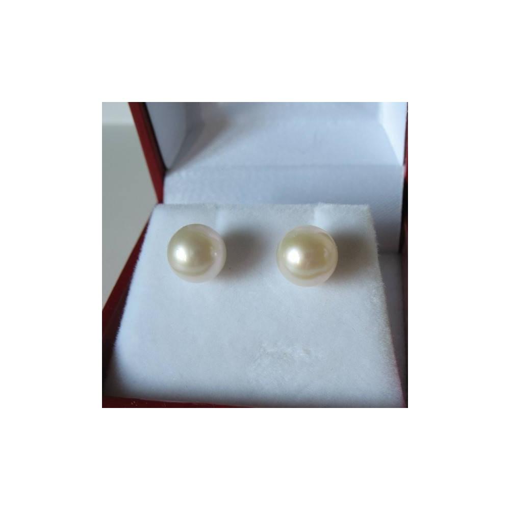 Boucles Nova Perle de culture blanche. Argent 925