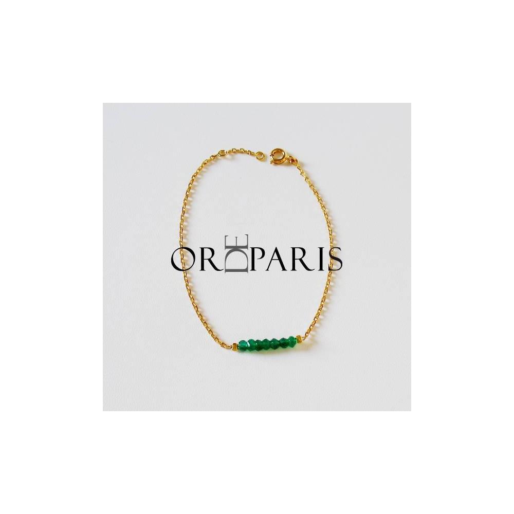 Bracelet Show cornaline. Argent massif