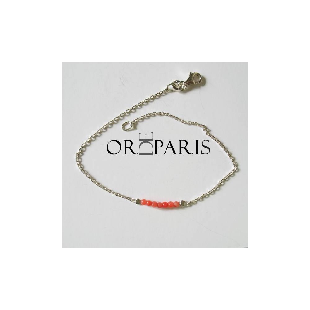 Bracelet Show corail. Argent 925