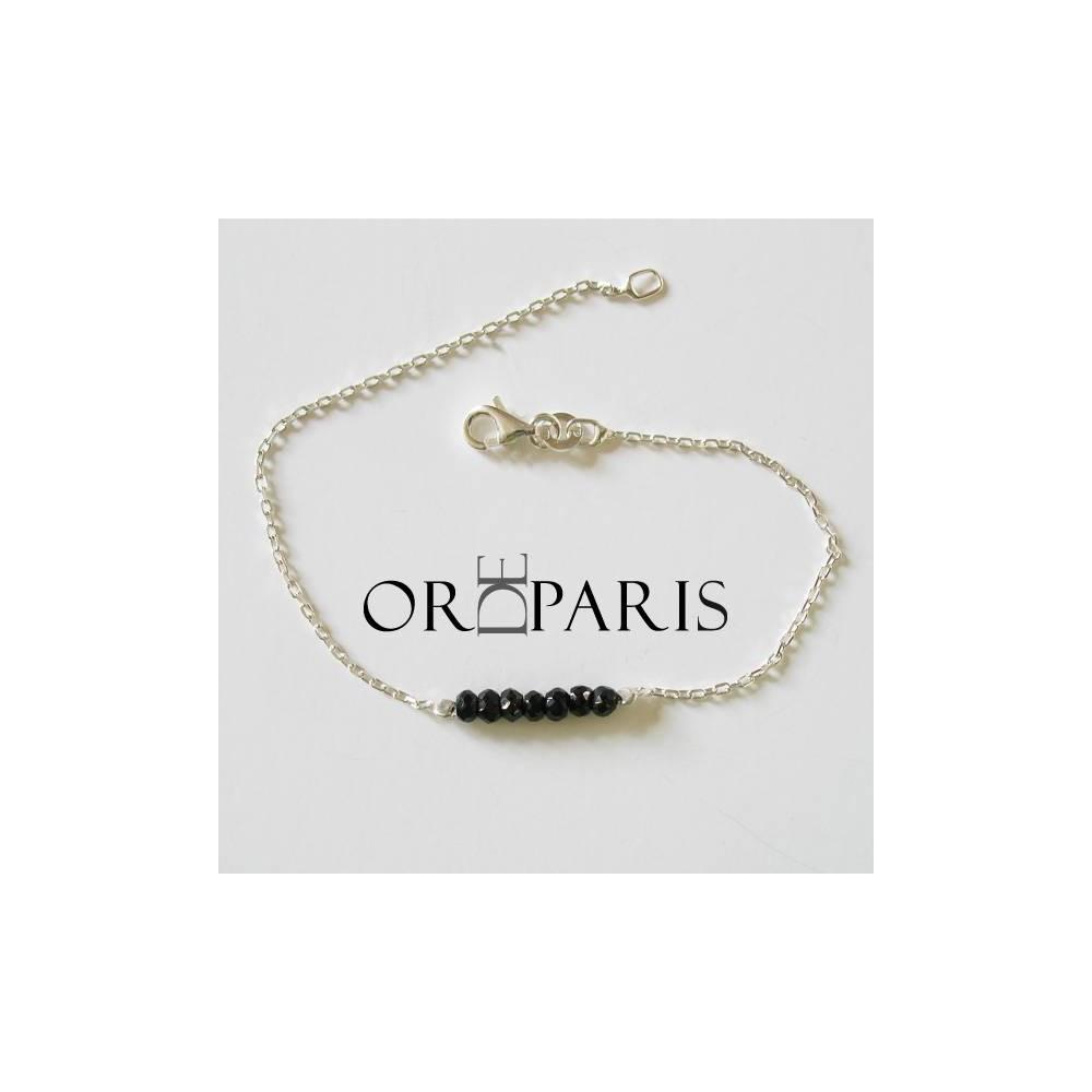 Bracelet Show Spinelle noir Argent 925