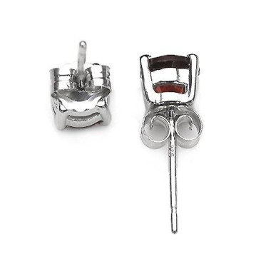 Boucles CLASSIC5 grenats 5mm. dos