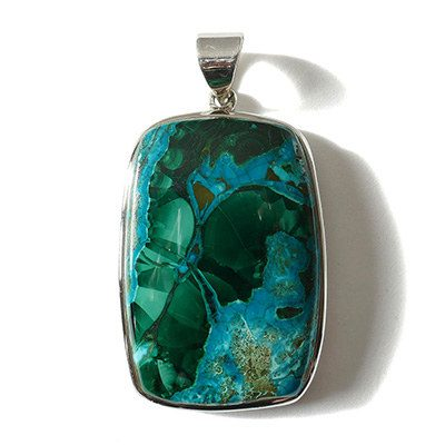Grand pendentif chrysocolle
