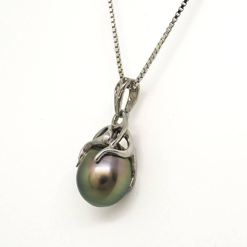 Pendentif Perle de Tahiti argent 925 et chaine vénitienne