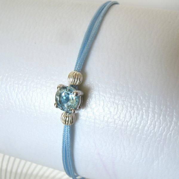 Bracelet topaze bleue naturelle : POP